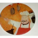 Fat Italian Chef Cutting Board Trivet Round