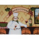 Fat Chef Merlot Wine Bottle Placemats Set