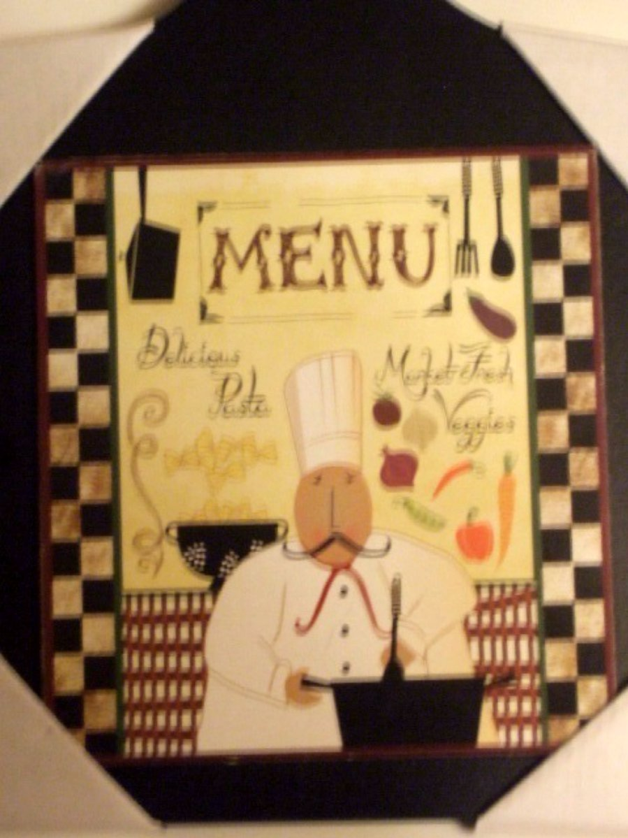 Fat Italian Chef Wood Cutting Board Plaque