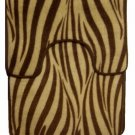 Brown Zebra Stripe Bath Mat Contour Rug