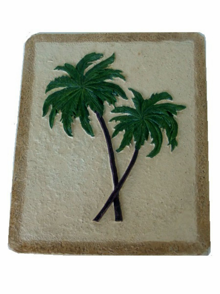 Palm trees wall decor for Palm tree decorations for the home