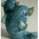 Dolphins Figurine with Baby Dolphin Ceramic