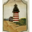 Lighthouse Beach Wood Plaque Wall Decor