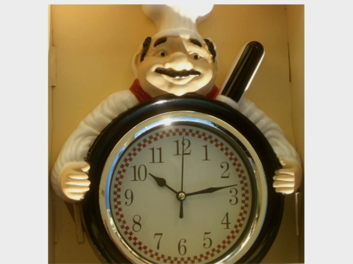 Fat Italian Chef Kitchen Wall Clock