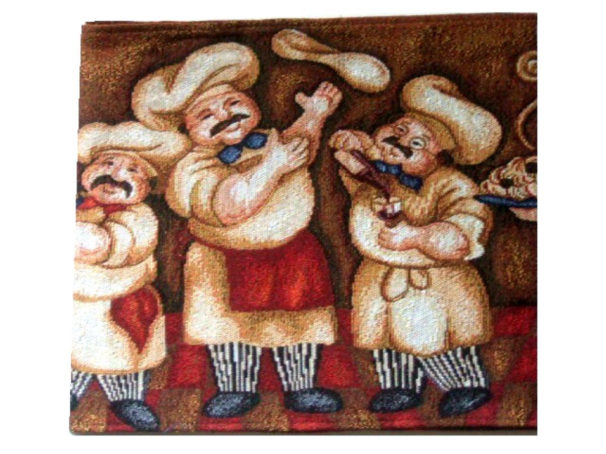 Fat Italian Chefs Tapestry Table Runner
