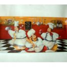 Humorous Fat Chefs Kitchen Tray