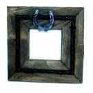 Western Horseshoe Barbed Wire Photo Frame