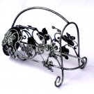 Metal Wine Bottle Holder Grapes Grape Leaves