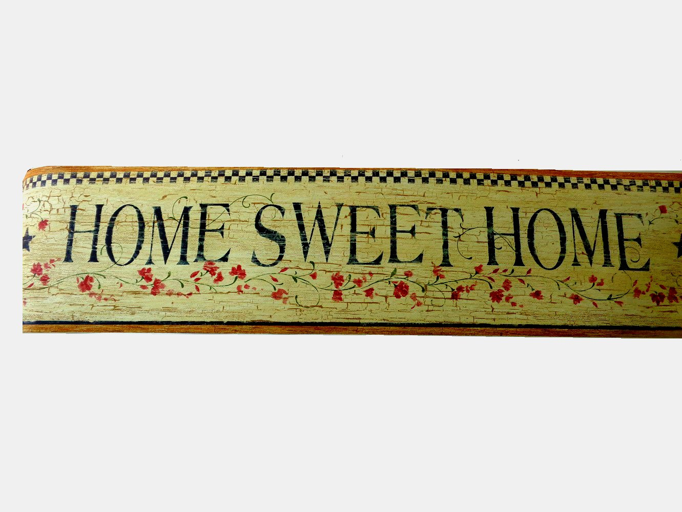 Primitive country stars home sweet home wallpaper border for Wallpaper home sweet home