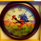 Country Rooster Kitchen Wall Clock
