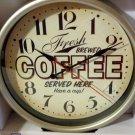 Coffee Themed Kitchen Wall Clock