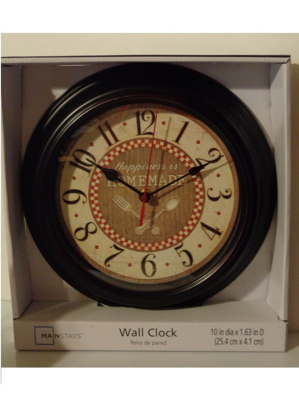 Fork Spoon Kitchen Wall Clock