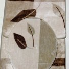 Leaves Bath Mats Set  Bath Mat Contour Rug Seat Cover