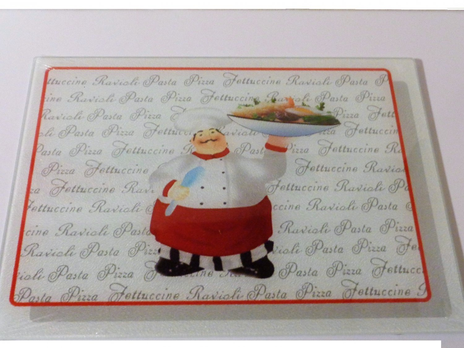 Fat Chef Cutting Board Italian Kitchen Decor