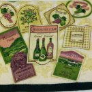 Tuscan Wine Labels Kitchen Towels Set