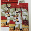 Fat Italian Chef Vino Towels Set