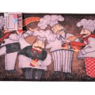 Humorous Fat Chefs Kitchen Rug Italian Decor