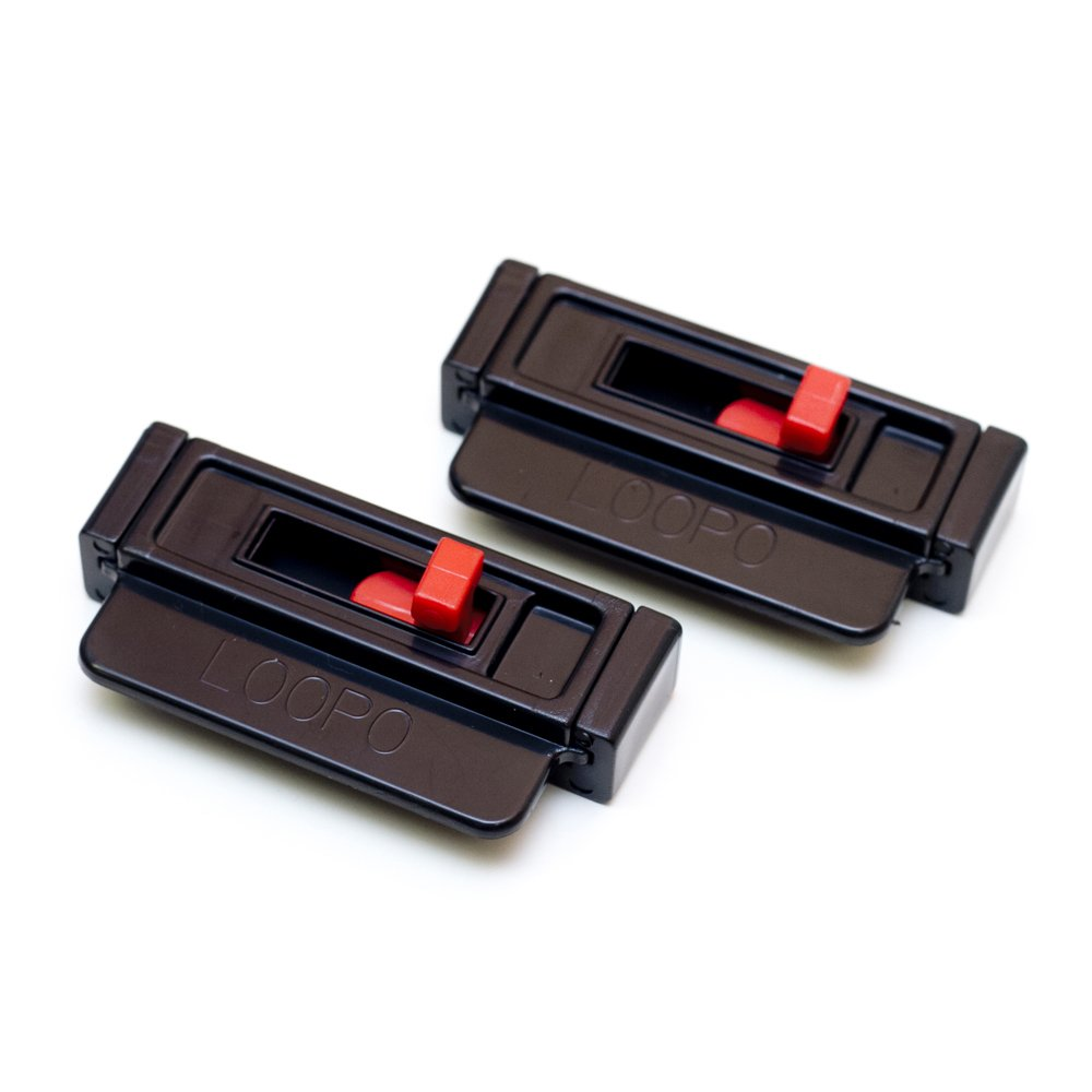 2 Black LooPo Seat Belt Tension Adjusters -Safe comfort