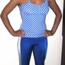 Blue Check Unitard: Adult Medium/Large