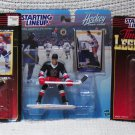 """NEW - LOT OF 3 Starting Line-up © 1995, 1997, 1999 6"""" Hockey Figures/Cards"""