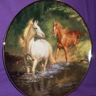 """""""FREE AS THE WIND"""" Franklin Mint Horse Plate"""