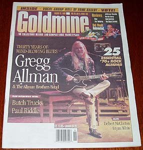 GOLDMINE #486 Allman Brothers Band Butch Trucks Bob Mould Mar. 12, 1999 [SP-500]