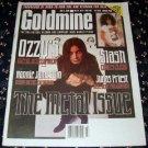 GOLDMINE #466 Ozzy Osbourne Judas Priest Ronnie James Dio June 5, 1998 [SP-500]