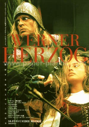 AGUIRRE Werner Herzog Klaus Kinski video flyer Japan [PM-100f]