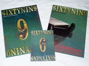 6IXTYNIN9 SIXTYNINE / RUANG TALOK 69 Pen-ek Ratanaruang two movie flyers + card Japan [PM-100f]