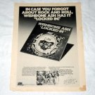 WISHBONE ASH Locked In LP advertisement USA [PM-100]