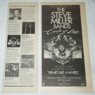 THE STEVE MILLER BAND Circle of Love LP advertisement & review USA [PM-100]
