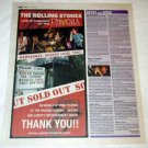 THE ROLLING STONES Toronto concert advertisement Canada 2005 [SP-250t]