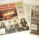 THE HIVES Toronto concert & CD advertisements Canada 2004 [SP-250t]