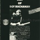 ROY BUCHANAN (Best of) Roy Buchanan LP advertisement Japan [PM-100]