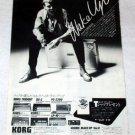 RICK WAKEMAN YES KORG synthesizer advertisement Japan 1981 [PM-100]