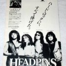 HEADPINS Line of Fire LP advertisement Japan [PM-100]