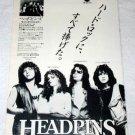 HEADPINS Line of Fire LP advertisement Japan [PM-100]