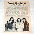 GENESIS interview magazine clipping USA 1976 [PM-100]