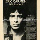 ERIC CARMEN Eric Carmen LP advertisement USA [PM-100]