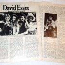 DAVID ESSEX interview magazine clipping USA 1976 [PM-100]