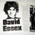 DAVID ESSEX interview magazine clipping UK 1974 [PM-100]