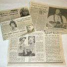 BRUCE SPRINGSTEEN three newspaper clippings Canada [PM-100]