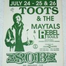 TOOTS & THE MAYTALS small gig flyer, poss. 1989 or 1995 [PM-100f]