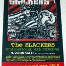 THE SLACKERS International War Criminal CD flyer Japan [PM-100f]