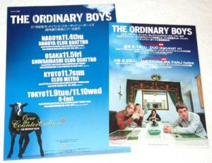THE ORDINARY BOYS two tour & CD flyers Japan 2004 [PM-100f]