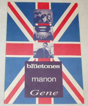 THE BLUETONES MARION GENE CD flyer Japan 1996 - BRITPOP [PM-100f]