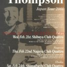 RICHARD THOMPSON tour flyer Japan 2001 [PM-100f]