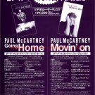 PAUL McCARTNEY Coming Home + Movin On video flyer Japan 1996 [PM-200f]