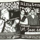 AMERICAN HARDCORE / WE JAM ECONO: THE STORY OF THE MINUTEMEN movie flyer Japan 1006 [PM-100f]