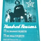 HUNDRED REASONS concert flyer Japan 2003 [PM-100f]